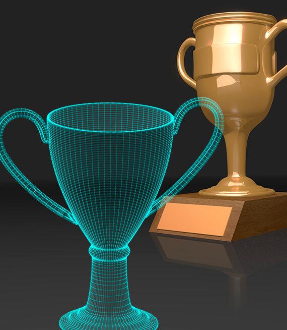 Trofeos Personalizados impresos en 3D
